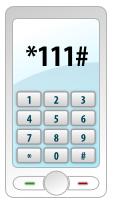 Экран мобильного телефона с введенной комбинацией знаков